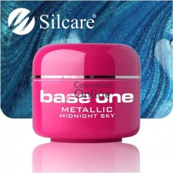 Gel UV Base One Silcare metalic Midnight Sky 5 ml